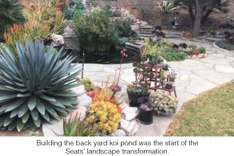 Building the back yard koi pond was the start of the Seats' landscape transformation.