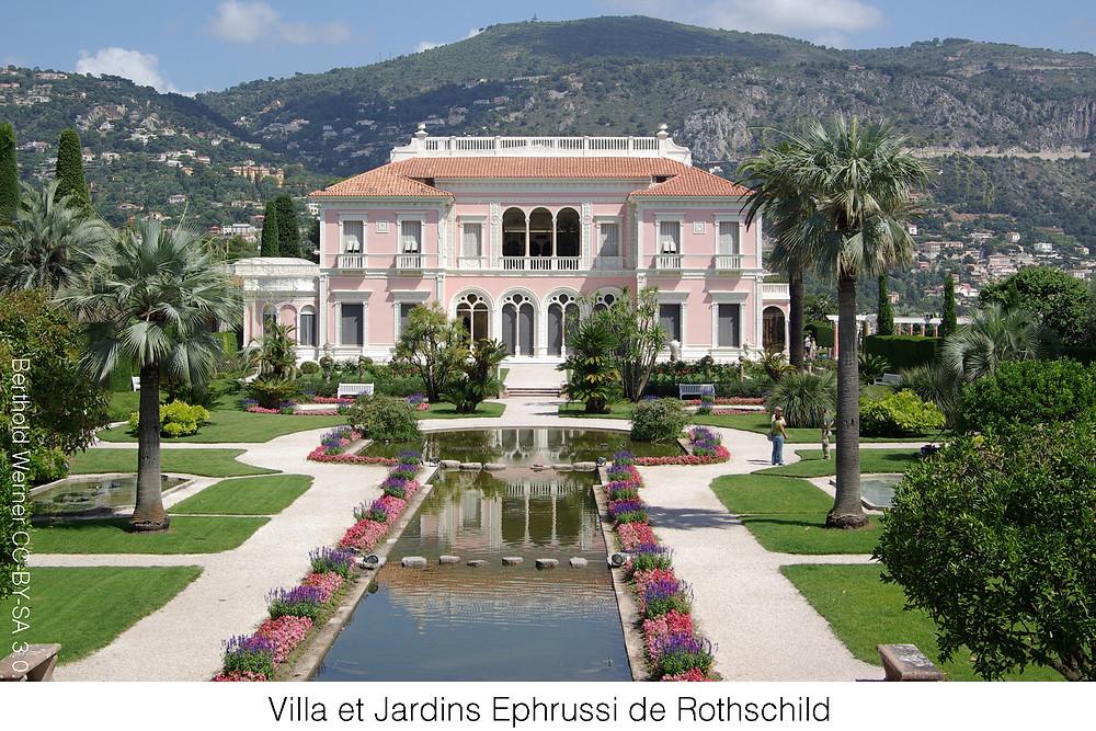 Villa et Jardins Ephrussi de Rothschild. Attribution Berthold Werner CC-BY-SA 3.0.