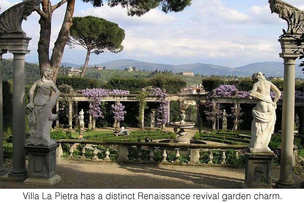 Villa La Pietra has a distinct Renaissance revival garden charm.