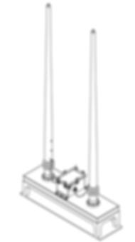HF Twin 18-Ft Whip Antenna