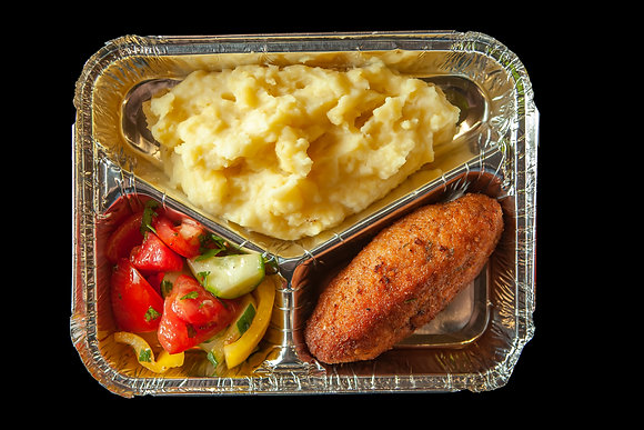 N4 Картофельное пюре/Киевские котлеты/летний салат
