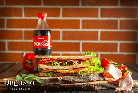 Клаб сэндвич - Кола 0,5 л