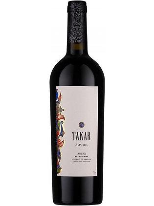 """Вино красное сухое """"Такар"""""""