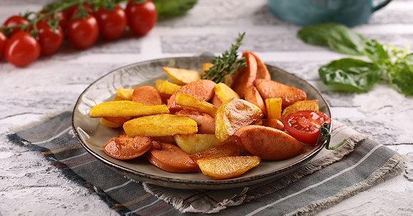 Картофель с сарделькой