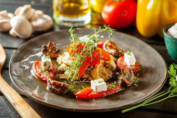Салат на горячем гриле