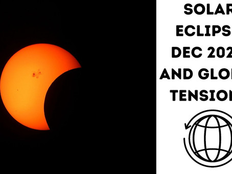What are Global tensions and happenings because of the Total Solar Eclipse on 14th Dec 2020?