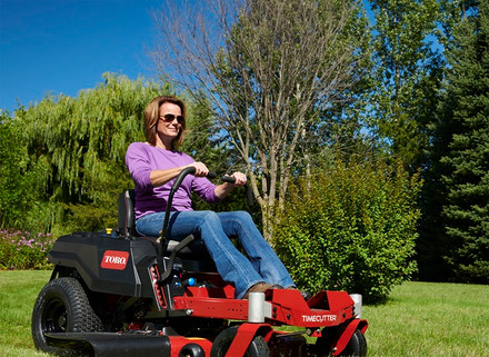 TimeCutter mowers outperform traditional riders in speed and comfort.