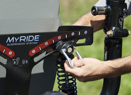 Z-Master MyRide adjustments give you maximum comfort on difficult terrain.