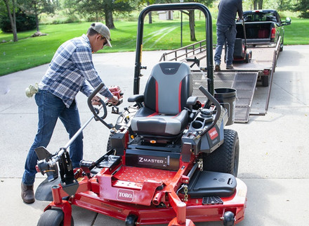 Tool holders and other accessories are available to give your Z-Master maximum utility around your property.