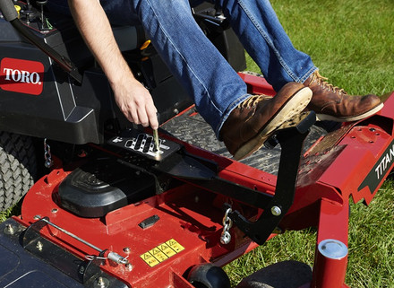 Adjust your mower with easy lever controls.