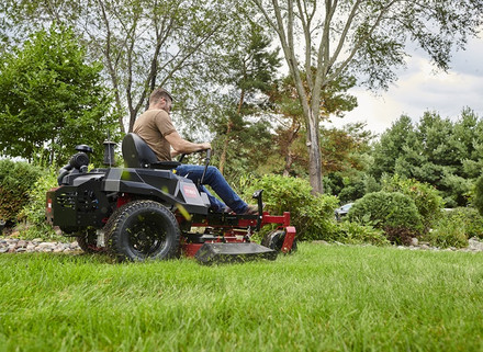 Toro Titan is a workhorse for large lawns.
