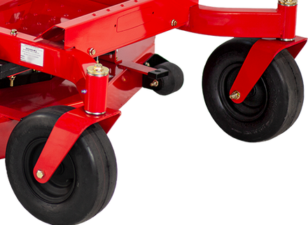 Commercial grade forks and castor wheels are durable and true.