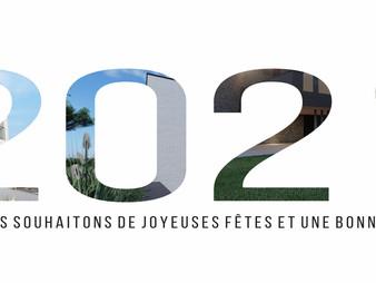 L'Atelier d'Architecture Poncelet vous souhaite de joyeuses fêtes et une bonne année !