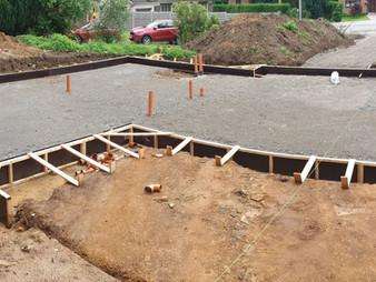 Construction d'une habitation unifamiliale I Chantier en cours I Gerpinnes