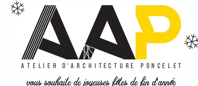 L'Atelier d'Architecture Poncelet vous souhaite de joyeuses fêtes de fin d'année !