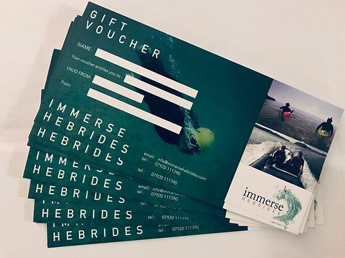 Immerse Hebrides E-Vouchers