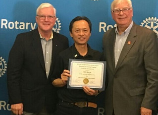 Ron Gin (charter member of Rotary S.F. Chinatown) graduates Rotary Governor training and will be Rot