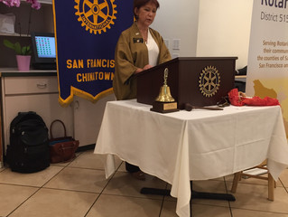 A visit from Rotary district 5150 Governor Jeri & Assistant Gov Ehlan today