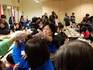 Club members - Thanksgiving service at Chinese Education Center K-5 school