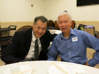David Lei & Calvin Taam speakers this week. Ford Lee YCMA Chinatown visits!