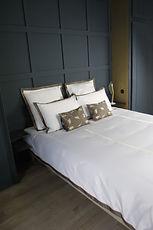 Parure de lit feuille or