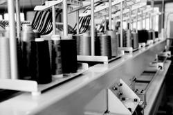 Alignement de cônes de fils sur nos machines