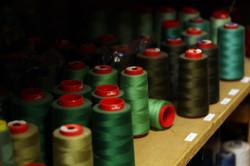 Stock camaïeux de fils vert