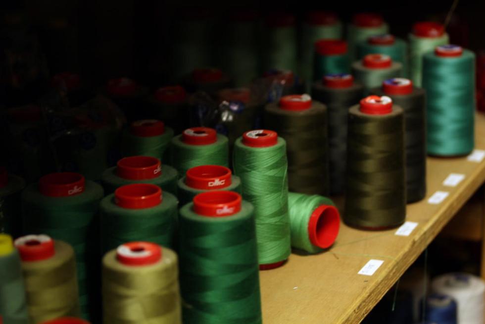 Stock de fils camaïeu vert