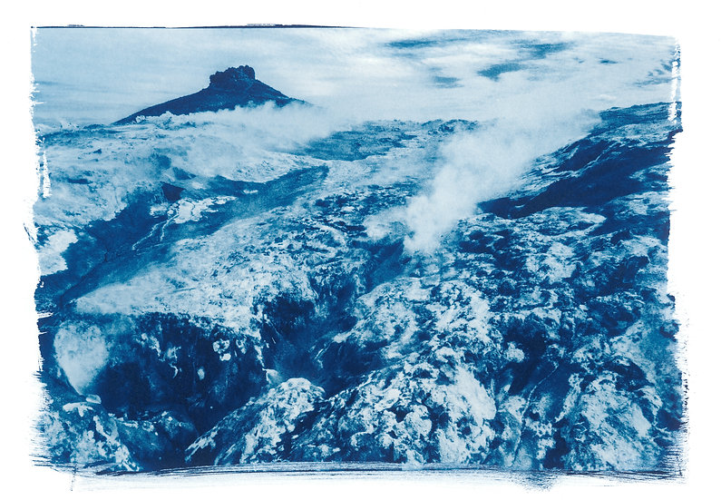 Smoking Land // 31 // Original Cyanotype Print