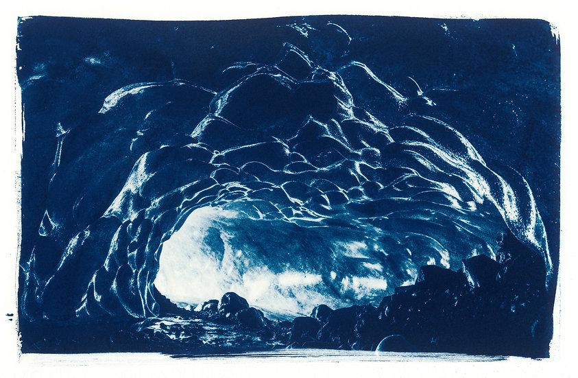 Walking towards the light // 29 // Original Cyanotype Print