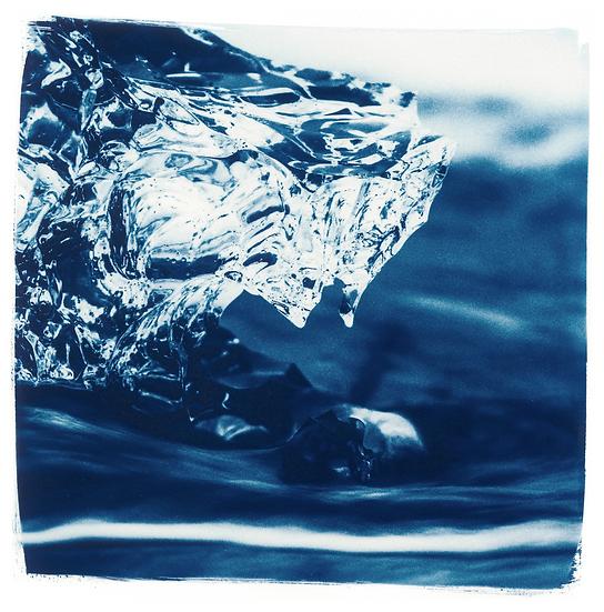 Diamond Beach // 62 // Mini Cyanotype on Arches Platine Paper