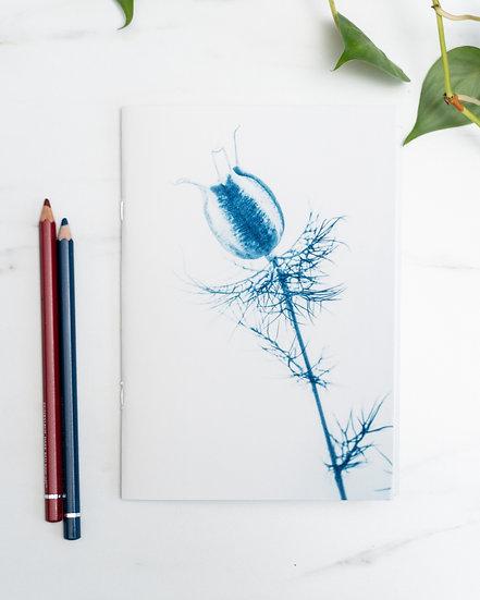 "A5 Notebook/sketchbook ""Funambule sur un fil de grâce"""