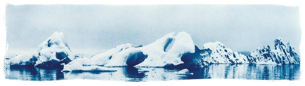 Glacier Lagoon // 06 // Original Cyanotype Print