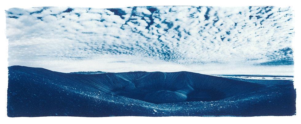 Crater // 08 // Original Cyanotype Print