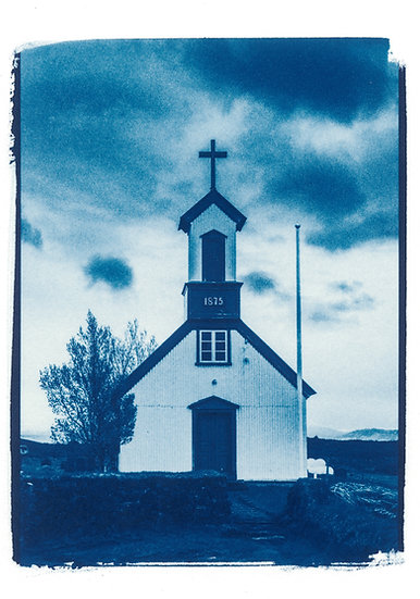 Take me to Church // 56 // Mini Cyanotype on Arches Platine Paper