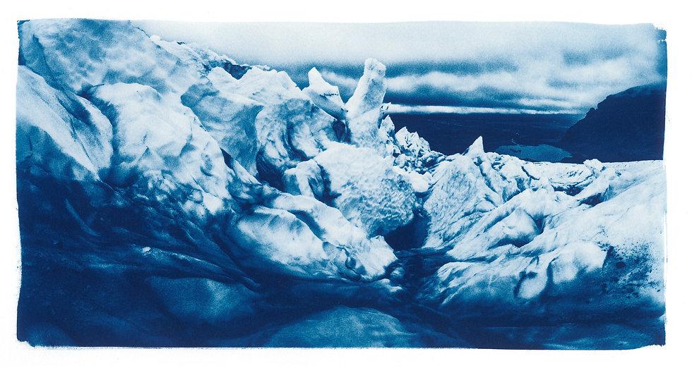 Langjökull Glacier // 01 // Original Cyanotype Print
