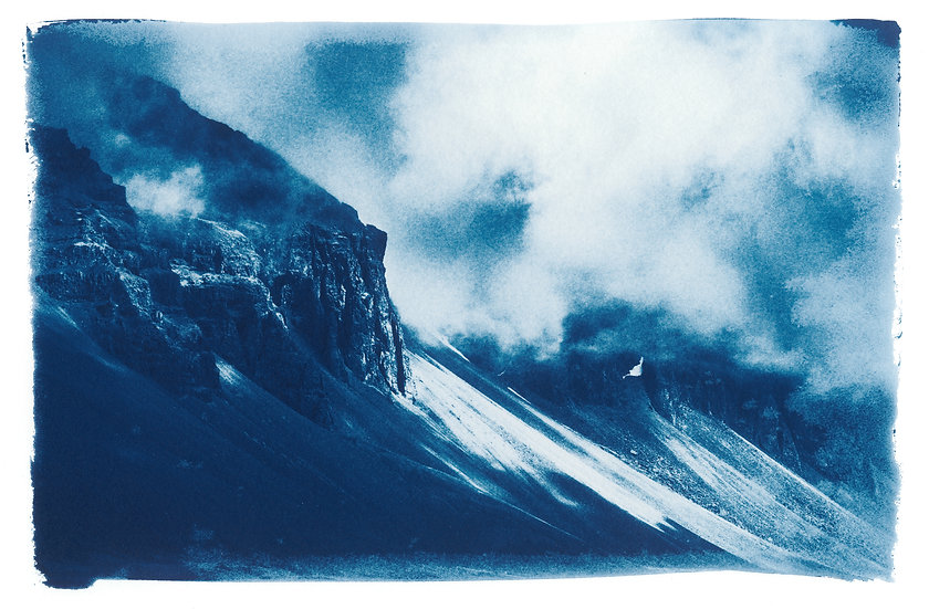 Mountains high // 53 //  Mini Cyanotype on Arches Platine Paper