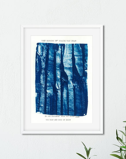 Pillar // Poetic Mini Cyanotype on Arches Platine Paper
