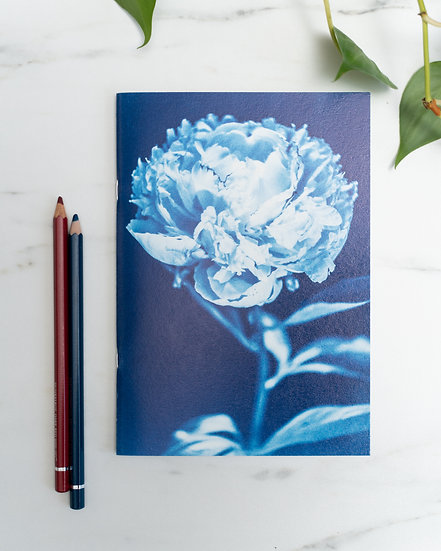"A5 Notebook/sketchbook ""Bloom without fear"""