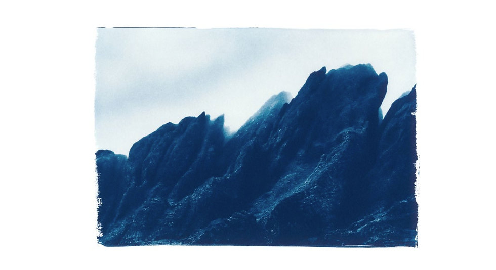 Iceland // 57 // Mini Cyanotype on Arches Platine Paper
