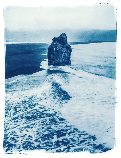 Eagle Rock // 54 //  Mini Cyanotype on Arches Platine Paper