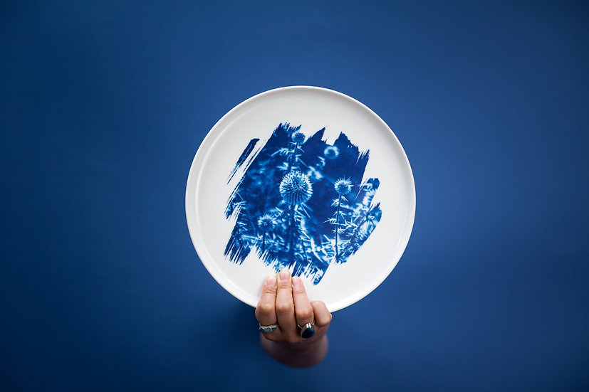 """Chardon"" porcelain plate"