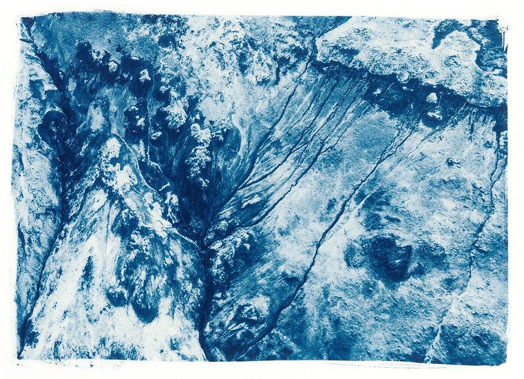 Boiling land // 26 // Original Cyanotype Print