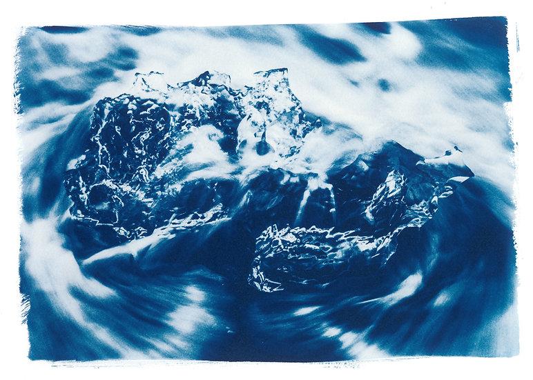 Diamond 4 // 36 // Original Cyanotype Print