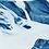 Thumbnail: Abstract // 41 // Original Cyanotype Print