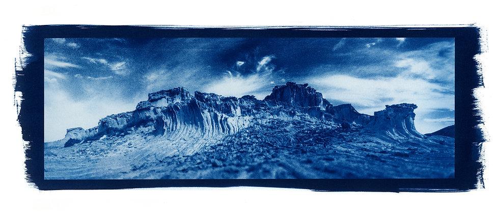 """""""Antiparos Rocher Panoramic"""" Cyanotype onArches PlatinePaper."""
