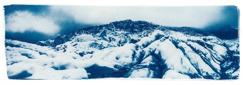 Vatnajökull // 18 // Original Cyanotype Print