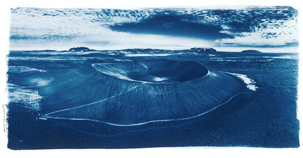 Hverfjall // 38 // Original Cyanotype Print