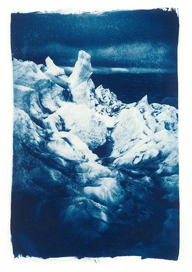 Þórisjökull // 11 // Original Cyanotype Print