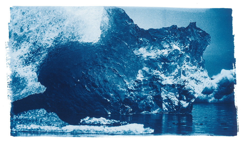 Ice Statue // 37 // Original Cyanotype Print
